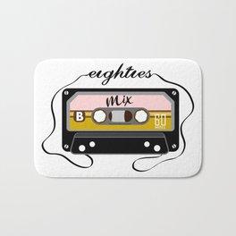 Eighties mix tape Bath Mat