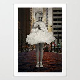 Urban prayer Art Print
