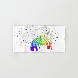 Rainbow Spring - Colors Decompressed Hand & Bath Towel