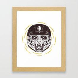 Kool Moto Kitty Framed Art Print