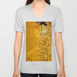 Gustav Klimt Portrait of Adel Bloch Bauer Unisex V-Neck