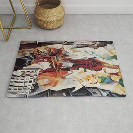 """Robert Delaunay """"Graphic Champs de Mars: The Red Tower"""" Rug"""