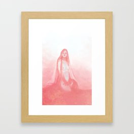 red walls Framed Art Print