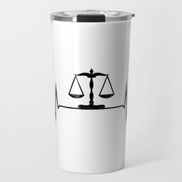 Scales Of Justice Heartbeat Lawyer Judge Travel Mug