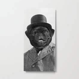 Sir Winston Pug Churchill Metal Print