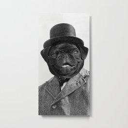Sir Winston Pug Churchill Metal Print