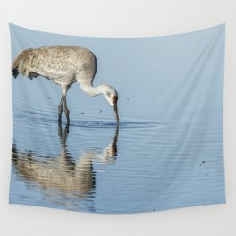 Sandhill Crane and Reflection Wall Tapestry