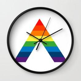 LGBT ALLY Rainbow Gay Pride Flag Wall Clock