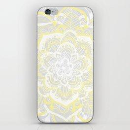 Woven Fantasy - Yellow, Grey & White Mandala iPhone Skin