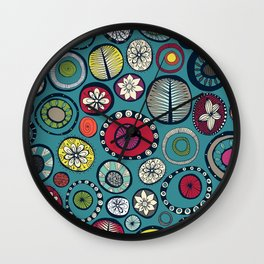 Honolulu hoops blue Wall Clock