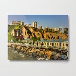 Lima Peru Coastal Scene Photo Metal Print