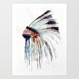 Indian Headress Art Print