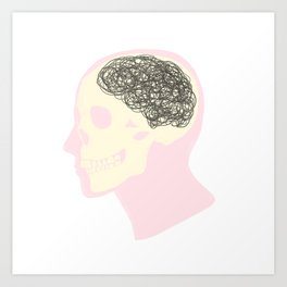 MESS UP MY MIND Art Print