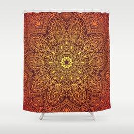Firey Mandala Shower Curtain