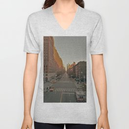 The Yellow Muted City (Color) Unisex V-Neck