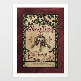 Christmas at the Three Broomsticks - Hogsmeade Art Print