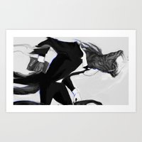 literary Art Prints featuring Literary discussions about Dostoevsky by AnastasiyaCemetery