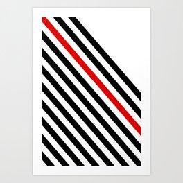 80s stripes Art Print