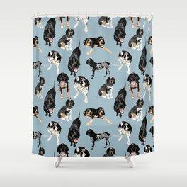 Bluetick Coonhounds Shower Curtain