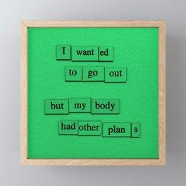 Other Plans Framed Mini Art Print