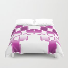 pink purple white cactus abstract geometrical art Duvet Cover