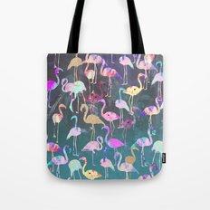 After Dark Flamingo Party  Tote Bag