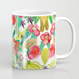 Exotic watercolor floral with tropical fruits and flowers Coffee Mug