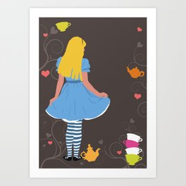 Alice in Wonderland tea party print Art Print