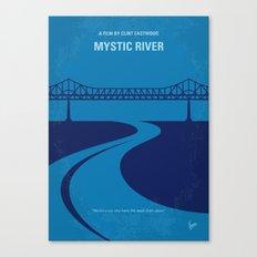 No729 My Mystic River minimal movie poster Canvas Print