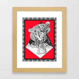 Depiction of Dependent Origination Framed Art Print