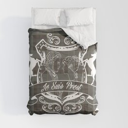 Outlander plaid with Je Suis Prest crest Comforters