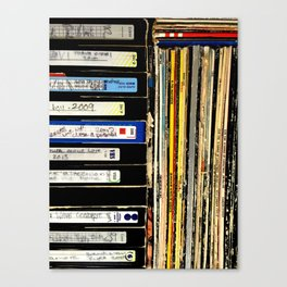 vinyls and VHS Canvas Print