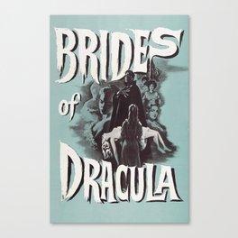 Brides of Dracula, vintage horror movie poster Canvas Print
