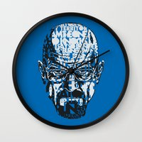 quotes Wall Clocks featuring Heisenberg Quotes by RicoMambo
