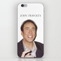 nicolas cage iPhone & iPod Skins featuring John Travolta // Nicolas Cage by Jared Cady