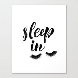 Sleep In Print, Sleep In Sign, Sleep Art, Eyelash Wall Art, Bedroom Wall Art Canvas Print
