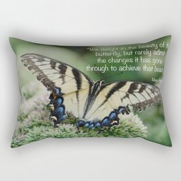 We delight in the beauty of the butterfly.... Rectangular Pillow