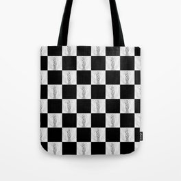 Checkerboard Pussy Tote Bag