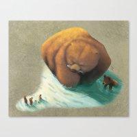 bears Canvas Prints featuring Bears by Melissa van der Paardt