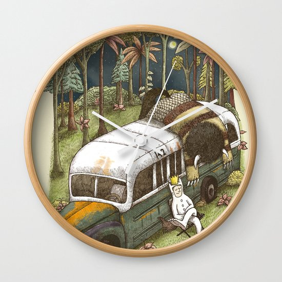 Into The Wild Things Wall Clock