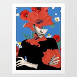 Poppy / Floral Portrait Art Print