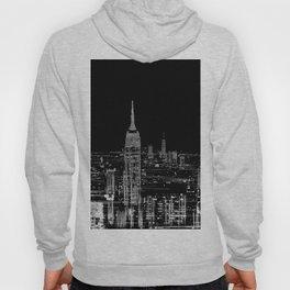 Contemporary Elegant Silver City Skyline Design Hoody