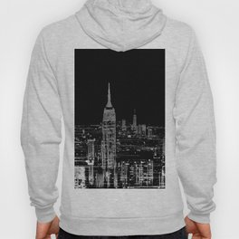 Contemporary Elegant Silver City Skyline Design Hoody