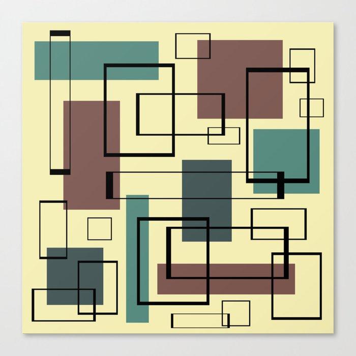 Mid Century Modern Rectangles Leinwanddruck