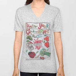 Know Your Groceries Unisex V-Neck