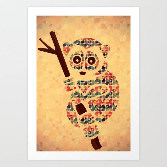 The Pattern Loris Art Print