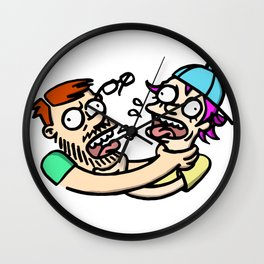 Friends Strangling Friends Wall Clock