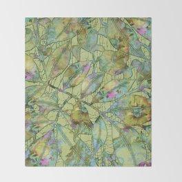Green Foliage Throw Blanket