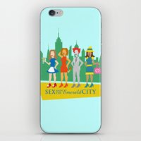 sex and the city iPhone & iPod Skins featuring Sex and the Emerald City by NBdesign