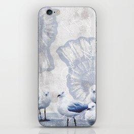 Sea gull ocean mixed media art iPhone Skin